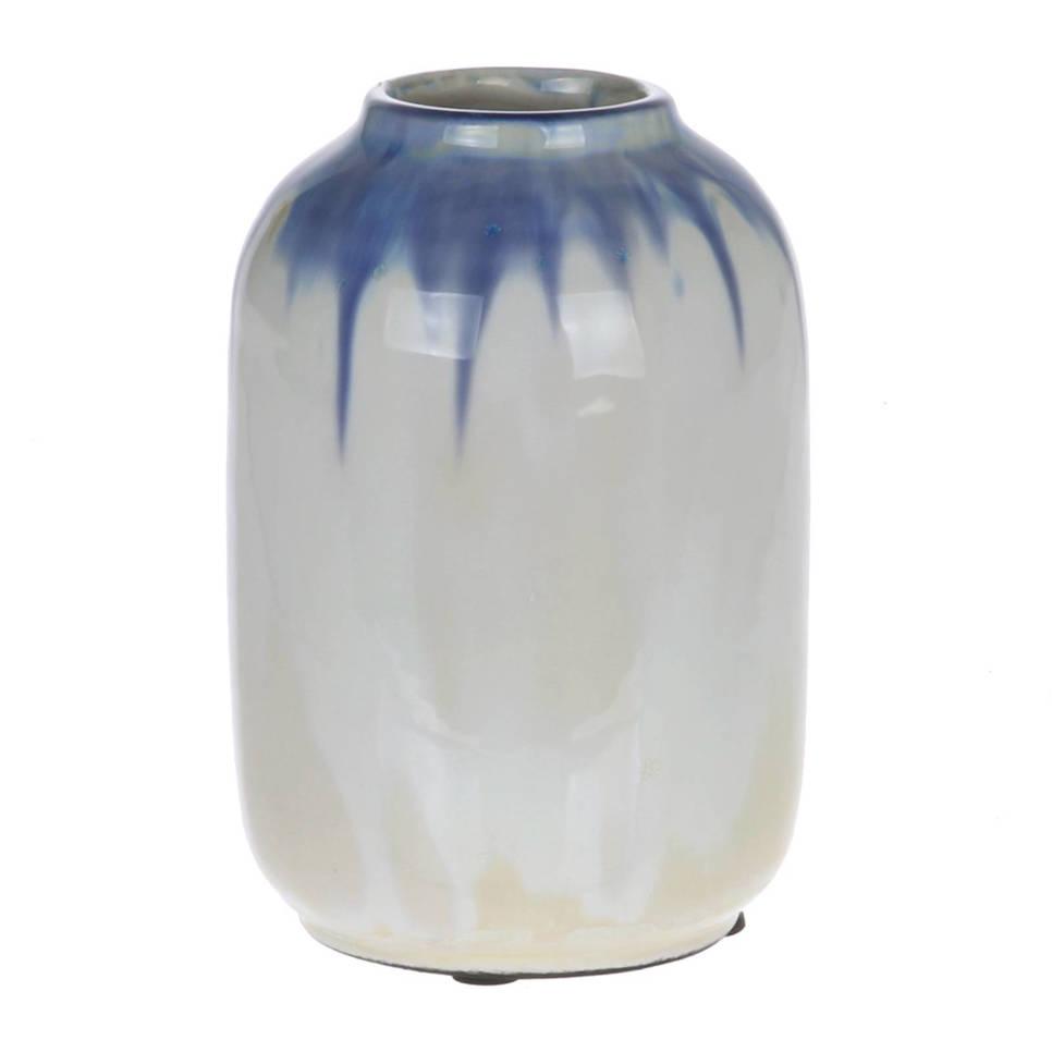 HKliving vaas Blue Pearl S , Pastel blauw