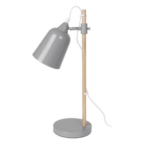 Tafellamp Wood-like Metaal Muis Grijs Leitmotiv