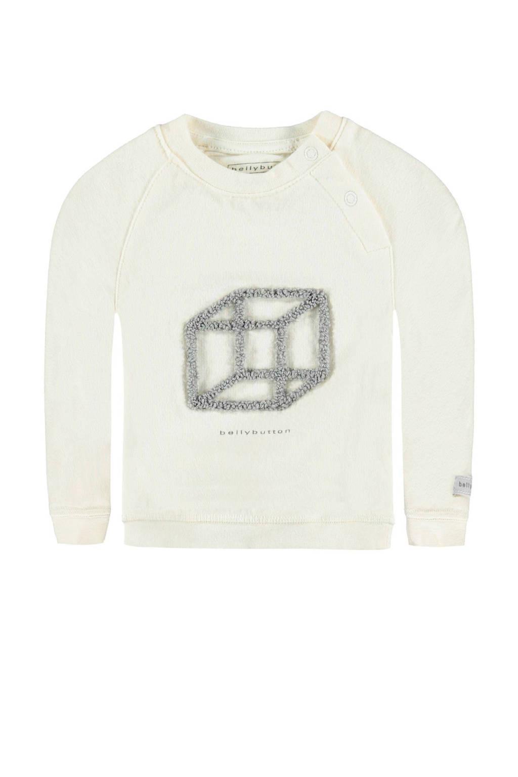 bellybutton sweatshirt, Ecru/grijs