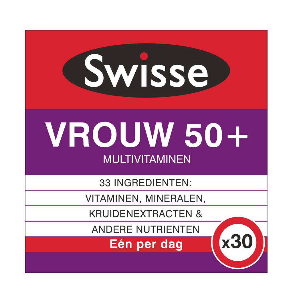 Swisse multivitaminen vrouw 50+ voedingssupplement - 30 tabletten