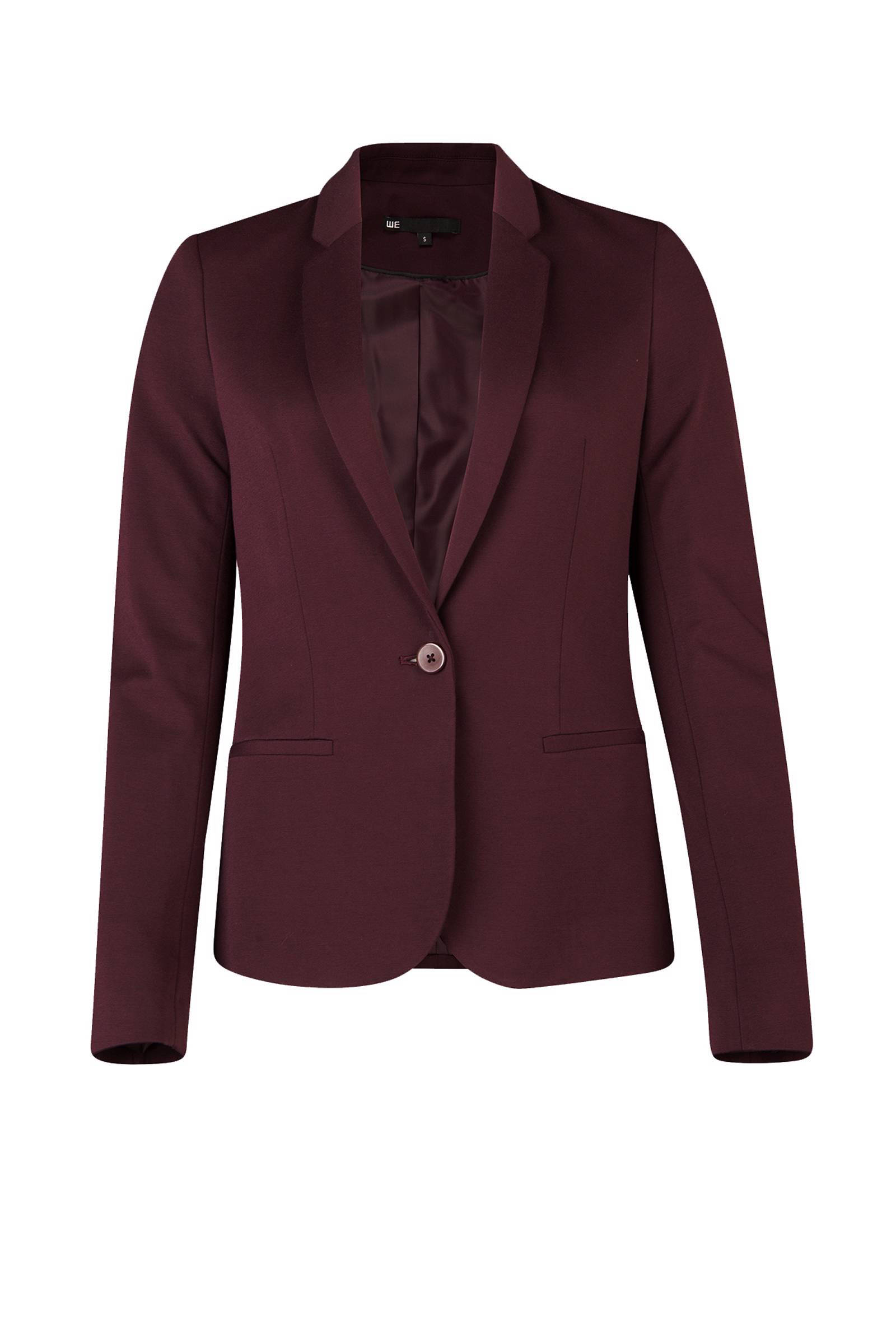 WE Fashion jersey blazer donkerpaars | wehkamp
