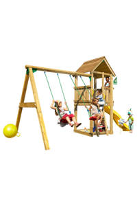 Jungle Gym Club + swing module speeltoestel, Geel