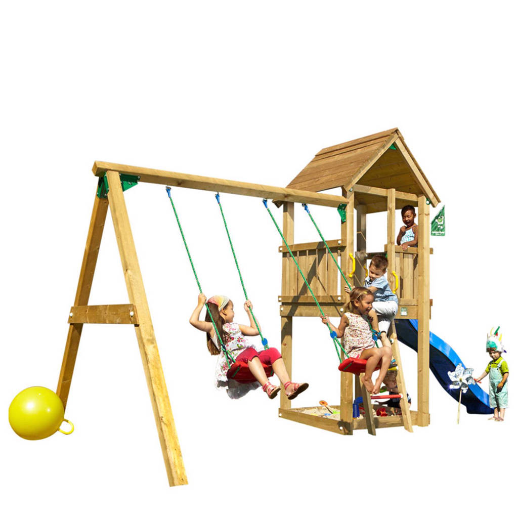 Jungle Gym Club + swing module speeltoestel, Blauw