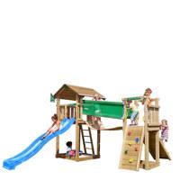 Jungle Gym Cottage + bridge module speeltoestel, Blauw