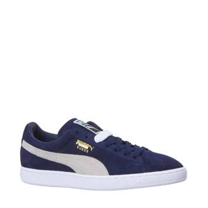 Suede Classic+   sneakers donkerblauw/wit