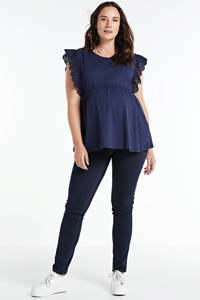 LOVE2WAIT plus size positie skinny jeans, Dark denim