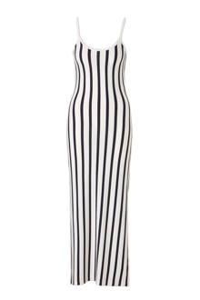 maxi jurk met streepdessin