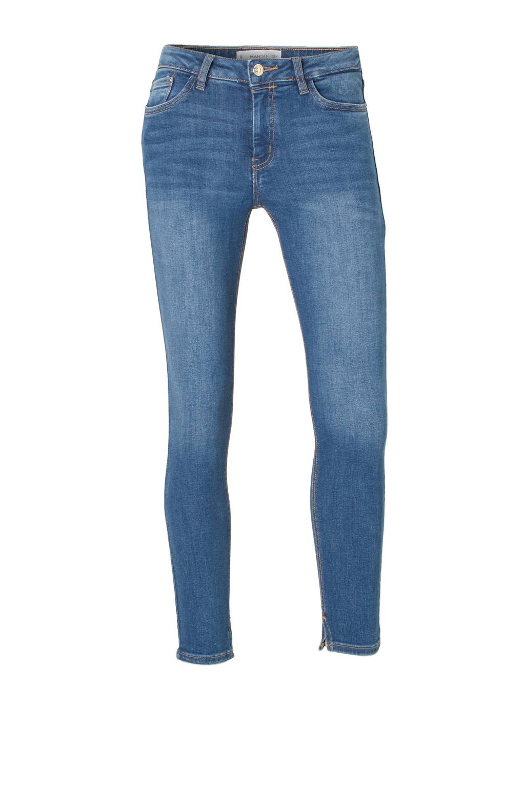 Mango cropped skinny fit jeans, Stonewashed