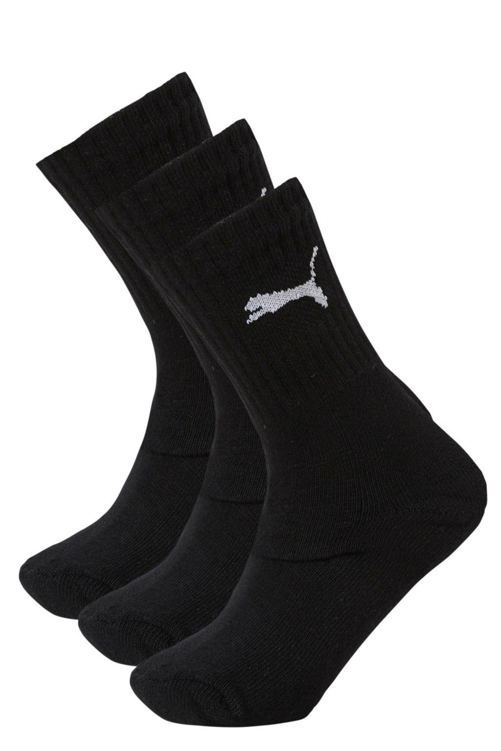 Puma   sokken - set van 3 zwart, Zwart