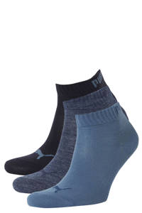 Puma sportsokken (set van 3), Denimblauw/grijsblauw/marine