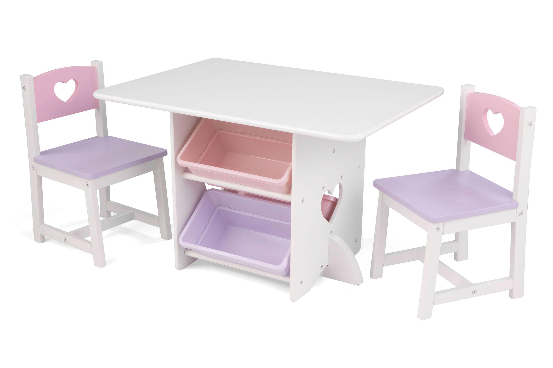 KidKraft tafel en 2 stoelen met hartjes | wehkamp