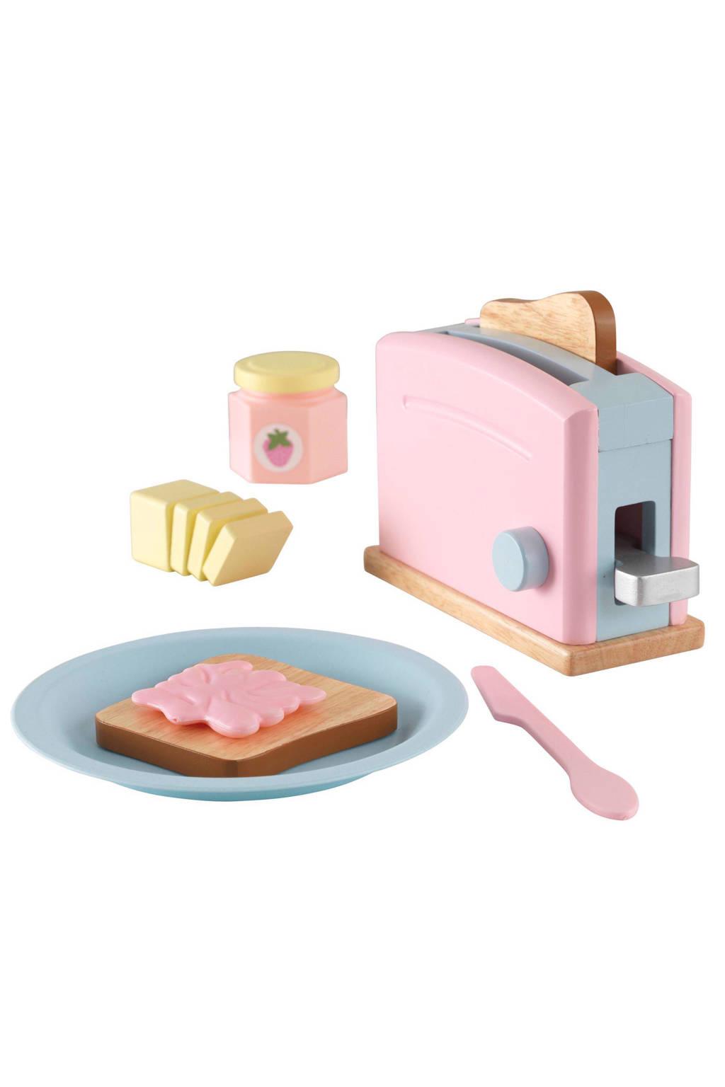 KidKraft houten broodroosterset - roze, Roze