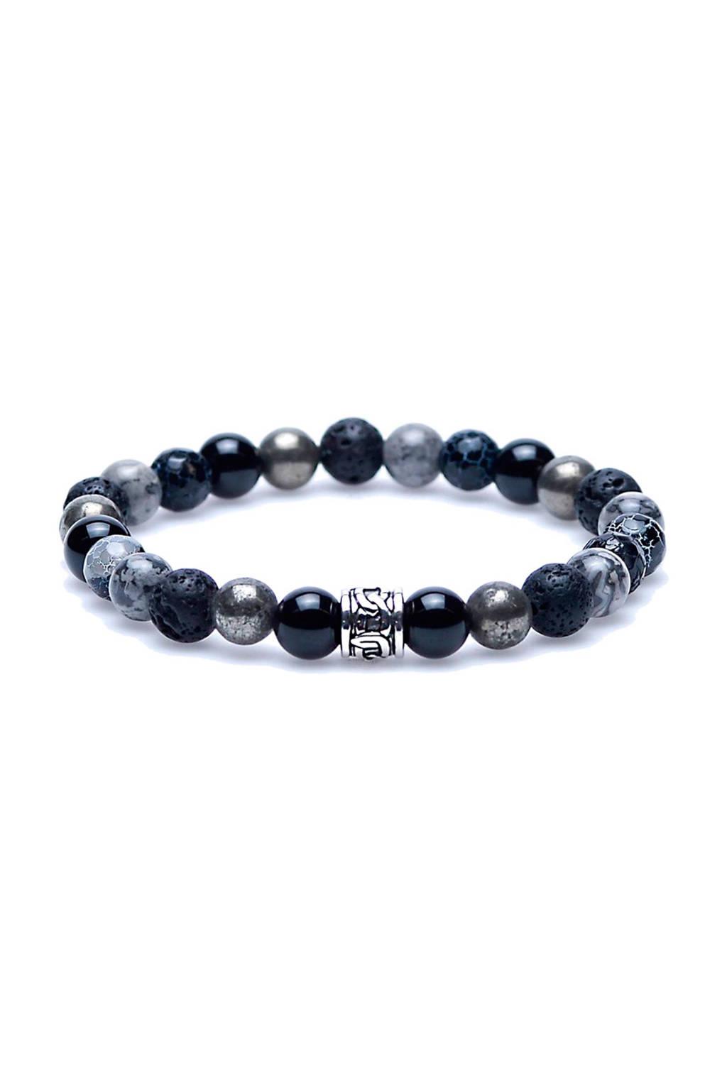 Karma Thunderstruck armband, Grijs/zwart