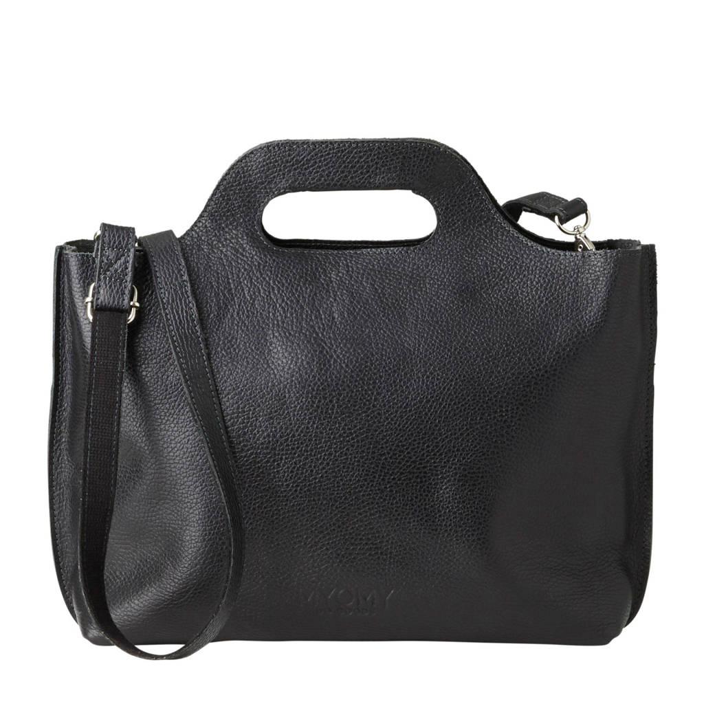 MYOMY   MY CARRY BAG leren handtas  zwart, Zwart