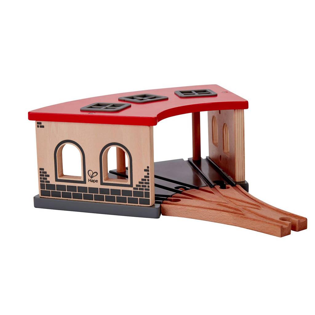 Hape houten locomotiefloods