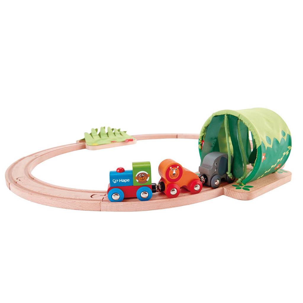 Hape houten junglereis treinset