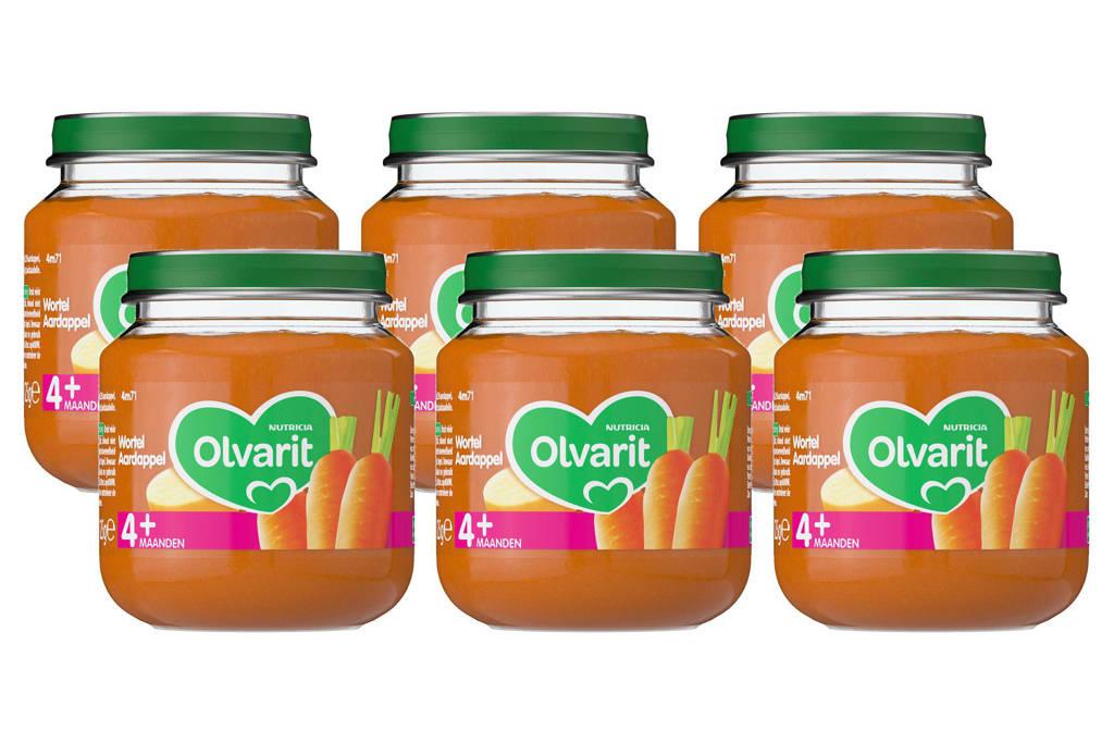 Olvarit babyvoeding wortel aardappel 4+ mnd (6 x 125 gram)