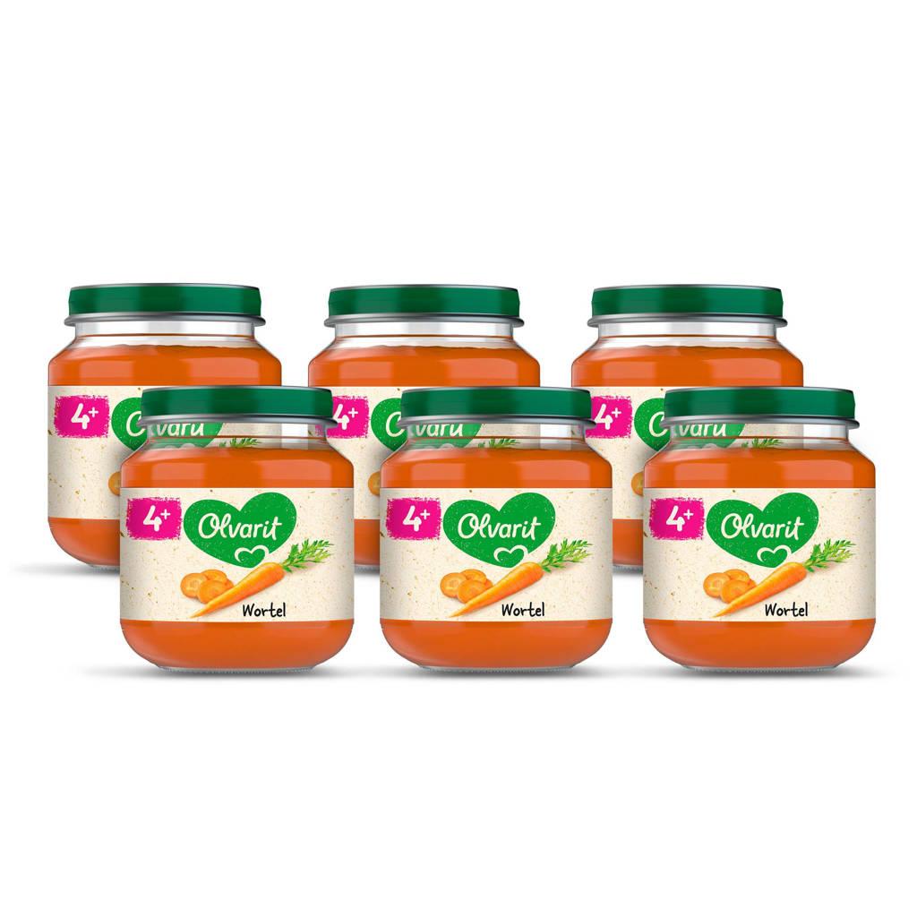 Olvarit babyvoeding wortel 4+ mnd (6 x 125 gram)
