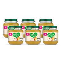 Olvarit Perzik Appel - fruithapje voor baby's vanaf 4+ maanden - 6x125 gram babyvoeding in een fruitpotje
