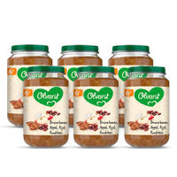 Olvarit Bruine Bonen Appel Rundvlees Rijst - babyhapje voor baby's vanaf 6+ maanden - 6x200 gram babyvoeding in een maaltijdpotje