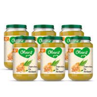 Olvarit Doperwten Kip Aardappel - babyhapje voor baby's vanaf 6+ maanden - 6x200 gram babyvoeding in een maaltijdpotje