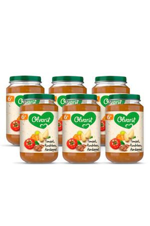 babyvoeding tomaat rundvlees aardappel wortel 6+ mnd (6 x 200 gram)