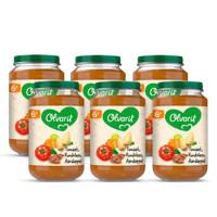 Olvarit Tomaat Rundvlees Aardappel Wortel - babyhapje voor baby's vanaf 6+ maanden - 6x200 gram babyvoeding in een maaltijdpotje