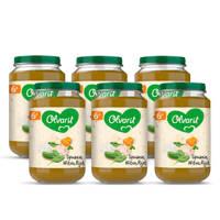 Olvarit babyvoeding spinazie witvis rijst 6+ mnd (6 x 200 gram)