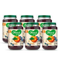 Olvarit Appel Bosbes Peer - fruithapje voor baby's vanaf 6+ maanden - 6x200 gram babyvoeding in een fruitpotje