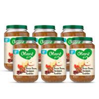 Olvarit Bruine Bonen Appel Rundvlees Appel - babyhapje voor baby's vanaf 8+ maanden - 6x200 gram babyvoeding in een maaltijdpotje