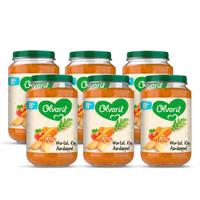 Olvarit Wortel Kip Aardappel - babyhapje voor baby's vanaf 8+ maanden - 6x200 gram babyvoeding in een maaltijdpotje