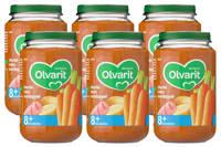 Olvarit babyvoeding wortel ham aardappel 8+ mnd (6 x 200 gram)