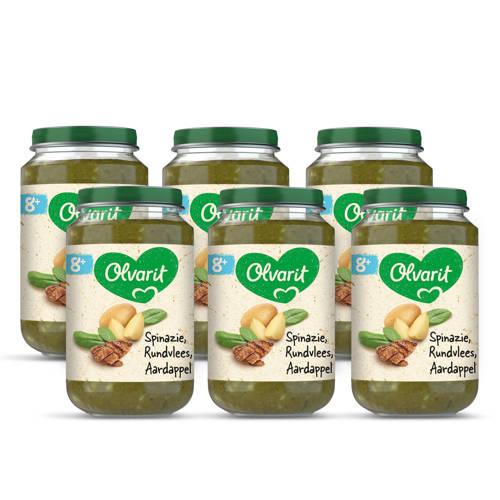 Olvarit babyvoeding spinazie rundvlees aardappel 8