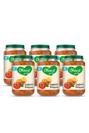 babyvoeding spaghetti bolognese 8+ mnd (6 x 200 gram)