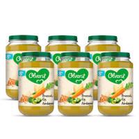 Olvarit Broccoli Kip Aardappel - babyhapje voor baby's vanaf 8+ maanden - 6x200 gram babyvoeding in een maaltijdpotje