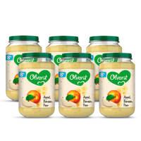 Olvarit Appel Banaan Peer - fruithapje voor baby's vanaf 8+ maanden - 6x200 gram babyvoeding in een fruitpotje