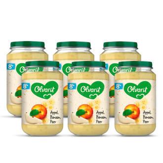 babyvoeding appel banaan peer 8+ mnd (6 x 200 gram)