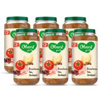 Olvarit Bruine Bonen Ham Aardappel - babyhapje voor baby's vanaf 12+ maanden - 6x250 gram babyvoeding in een maaltijdpotje
