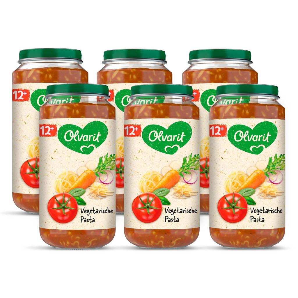 Olvarit babyvoeding vegetarische pasta 12+ mnd (6 x 250 gram)