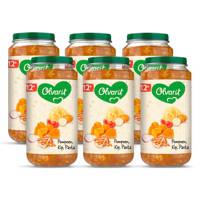 Olvarit Pompoen Kip Pasta - babyhapje voor baby's vanaf 12+ maanden - 6x250 gram babyvoeding in een maaltijdpotje