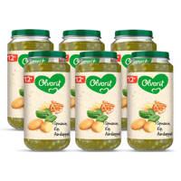 Olvarit babyvoeding spinazie kip aardappel 12+ mnd (6 x 250 gram)