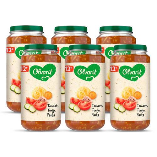 Olvarit babyvoeding tomaat tonijn pasta 12+ mnd (6