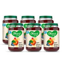 Olvarit Appel Peer Framboos - fruithapje voor baby's vanaf 12+ maanden - 6x200 gram babyvoeding in een fruitpotje