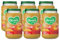 Olvarit babyvoeding appel perzik mango 12+ mnd (6 x 200 gram)