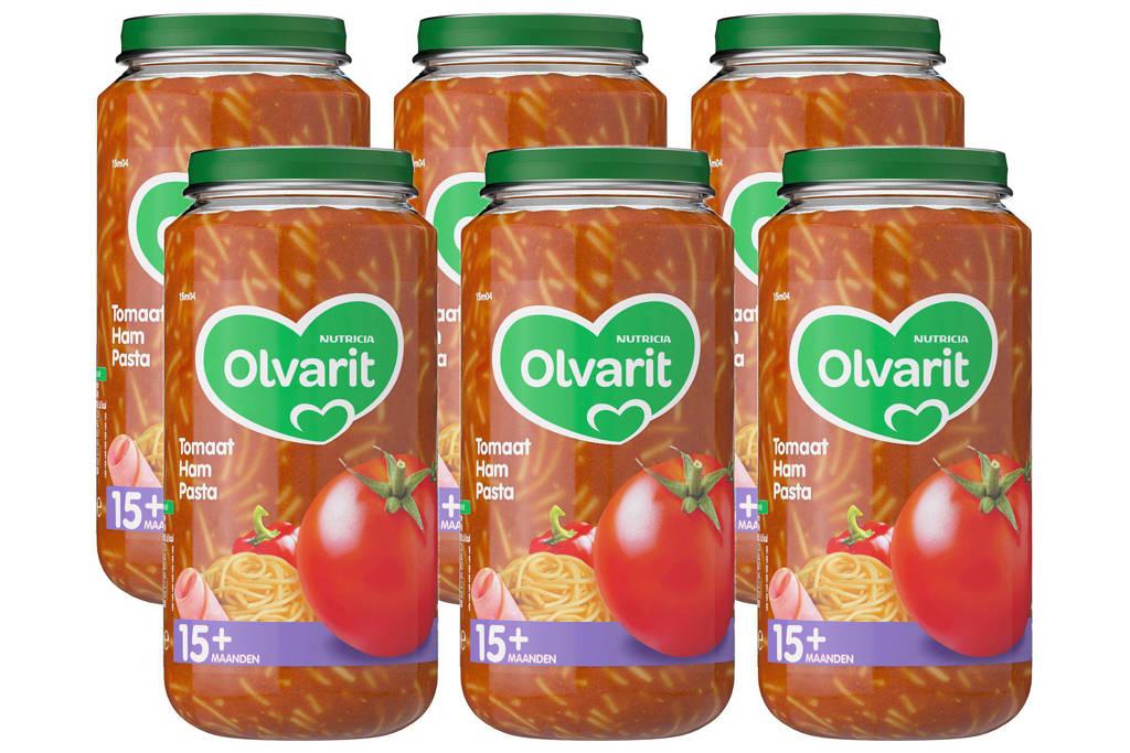 Olvarit babyvoeding tomaat ham pasta 15+ mnd (6 x 250 gram)