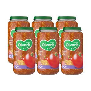 babyvoeding tomaat ham pasta 15+ mnd (6 x 250 gram)