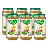 Olvarit Broccoli Rundvlees Rijst - babyhapje voor baby's vanaf 15+ maanden - 6x250 gram babyvoeding in een maaltijdpotje