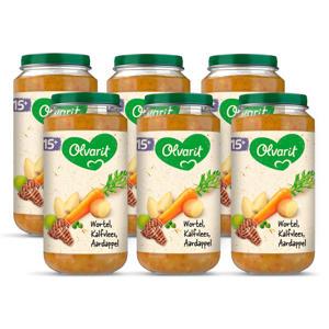 Wortel Kalfsvlees Aardappel - babyhapje voor baby's vanaf 15+ maanden - 6x250 gram babyvoeding in een maaltijdpotje