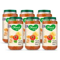 Olvarit Tomaat Kalkoen Pasta - babyhapje voor baby's vanaf 15+ maanden - 6x250 gram babyvoeding in een maaltijdpotje