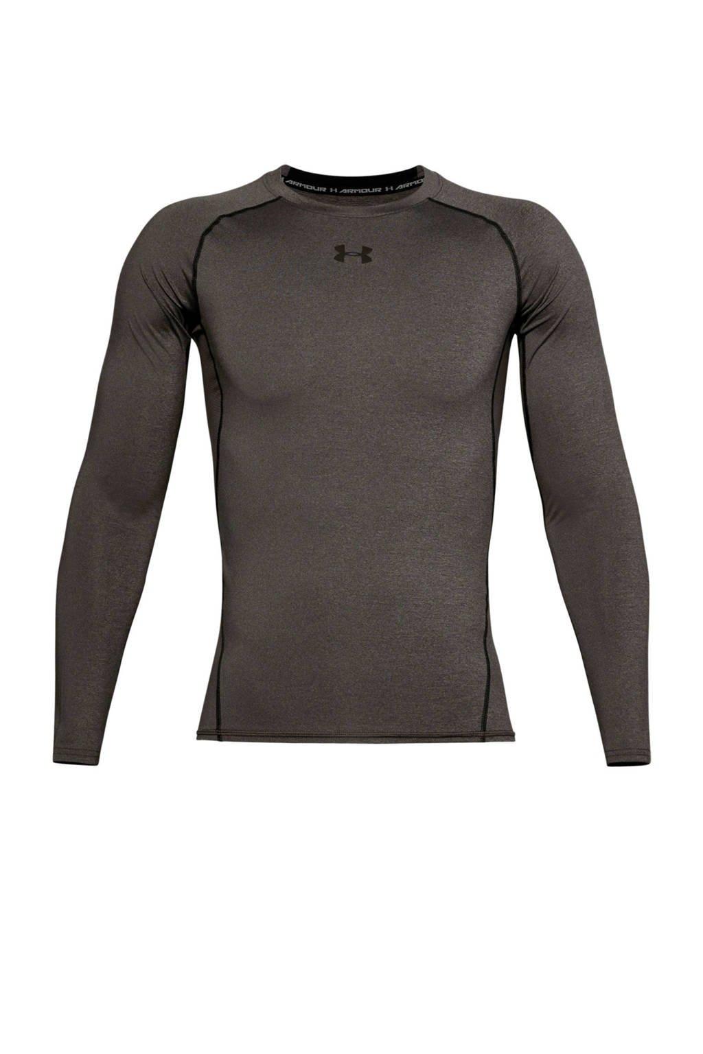 Under Armour   sport T-shirt Heatgear grijs, Grijs
